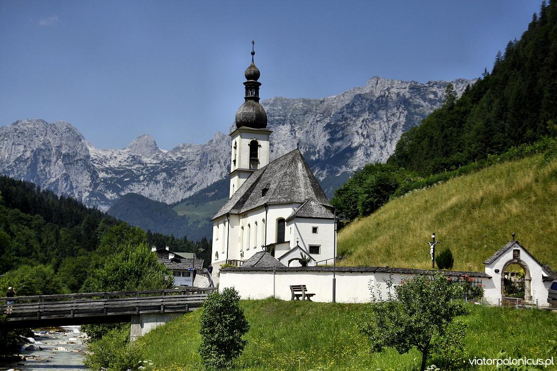 Kościół w Ramsau Berchstesgaden Viator Polonicus Joanna Maria Czupryna